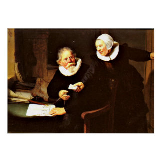 Rembrandt: The Shipbuilder and his Wife, 1633 Print