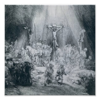 Rembrandt - The Three Crosses Print