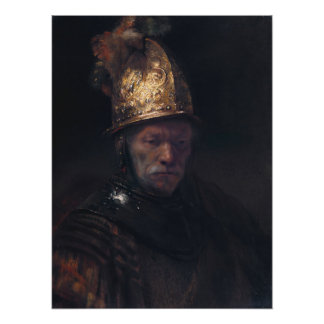 Rembrandt Van Rijn, Man With the Golden Helmet Poster