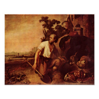 Rembrandt van Rijn - Parable of the treasure Poster