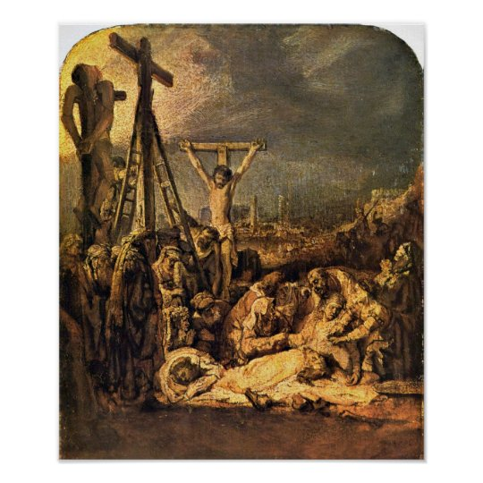 Rembrandt van Rijn - The Raising of the Cross Poster