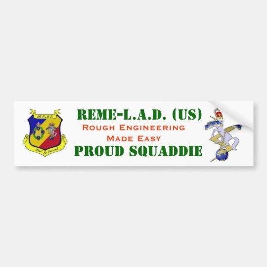 REME LAD Motor Vehicle Identification Bumper Sticker