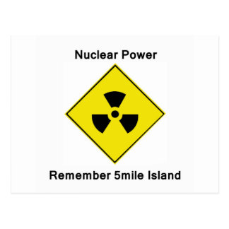 Remember 5-mile Island Anti Nuclear Logo Postcard