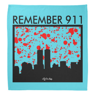 Remember 911 BANDANA BLUE