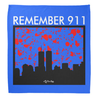 Remember 911 BANDANA BLUE & WHITE