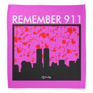 Remember 911 BANDANA PINK PURPLE