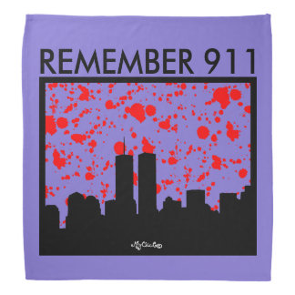 Remember 911 BANDANA PURPLE