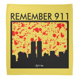 Remember 911 BANDANA YELLOW