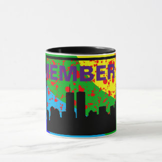 Remember 911 MUG RAINBOW