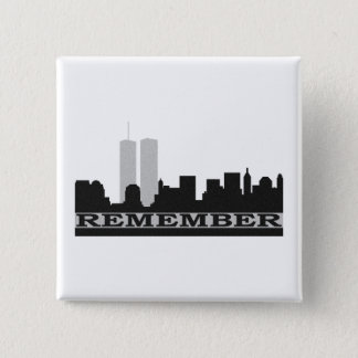 Remember 911 Pin Back Button