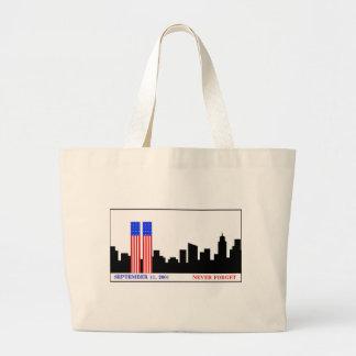 Remember 9-11-01 canvas bag