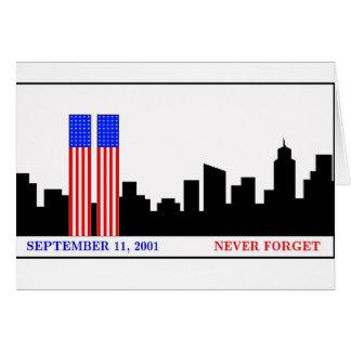 Remember 9-11-01 greeting card