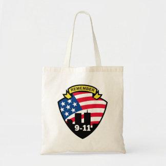 Remember 9-11 budget tote bag