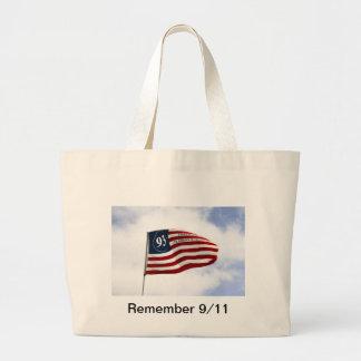 Remember 9/11 - Flight 93 Large Tote Bag