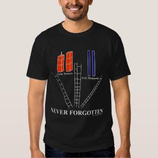 Remember 9-11, Never Forgotten, 10th Anniversary T T Shirt
