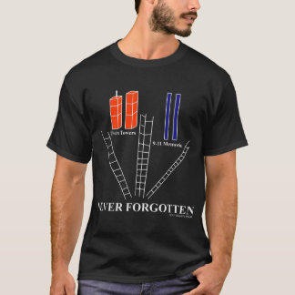 Remember 9-11, Never Forgotten, 10th Anniversary T T-Shirt