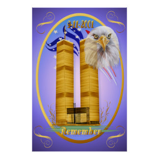 Remember 9-11 oval poster