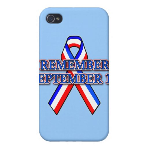 Remember 9/11 Ribbon on Tees, Mugs, Buttons Covers For iPhone 4