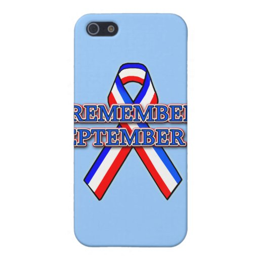 Remember 9/11 Ribbon on Tees, Mugs, Buttons Case For iPhone 5