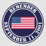 Remember 9/11 round stickers