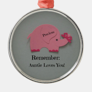 Remember: Auntie Loves You! Christmas Ornament