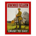 Remember Belgium (canvas) Poster