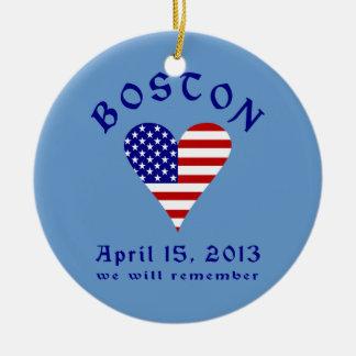 Remember Boston Christmas Ornament