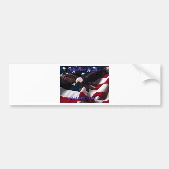 Remember Bumper Sticker