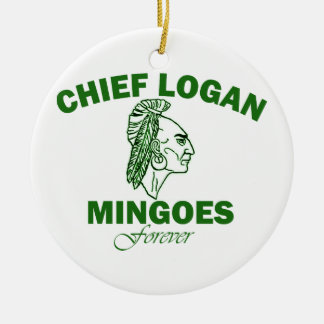Remember Chief Logan High School Christmas Ornament