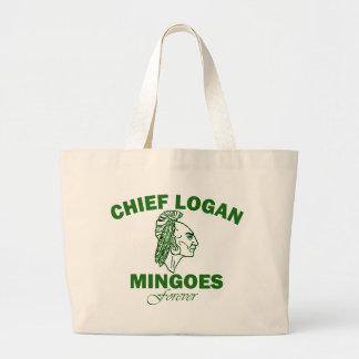 Remember Chief Logan High School Large Tote Bag