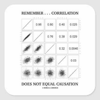 Remember ... Correlation Does Not Equal Causation Square Sticker