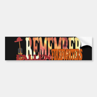 REMEMBER Fallen Firefighters Bumper Sticker