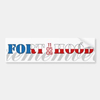 Remember Fort Hood Car Bumper Sticker