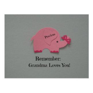 Remember: Grandma Loves You! Postcard