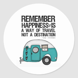remember happiness classic round sticker