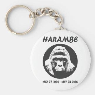 Remember Harambe Basic Round Button Key Ring