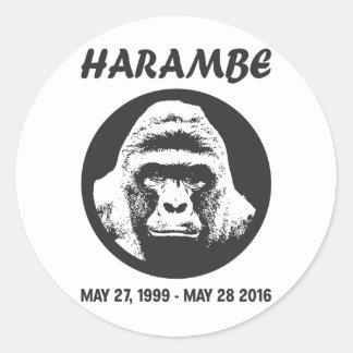 Remember Harambe Classic Round Sticker