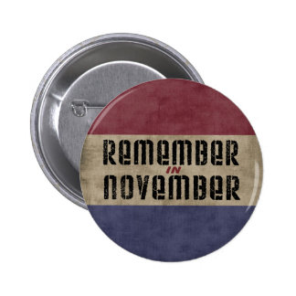 Remember in November Election Campaign 6 Cm Round Badge
