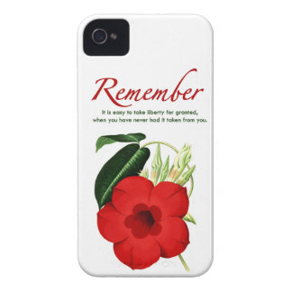 Remember. It is easy to take liberty for granted… iPhone 4 Case-Mate Case