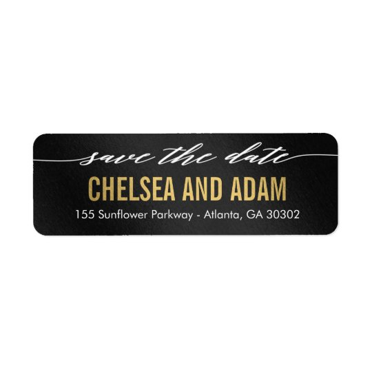 Remember It Save The Date Address Label