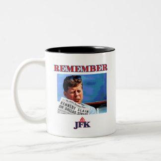 REMEMBER JFK Two-Tone COFFEE MUG
