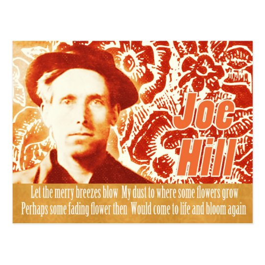 Remember Joe Hill CC0803 Flower power collage Postcard