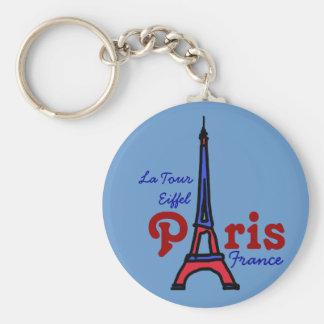 remember La Tour Eiffel Basic Round Button Key Ring