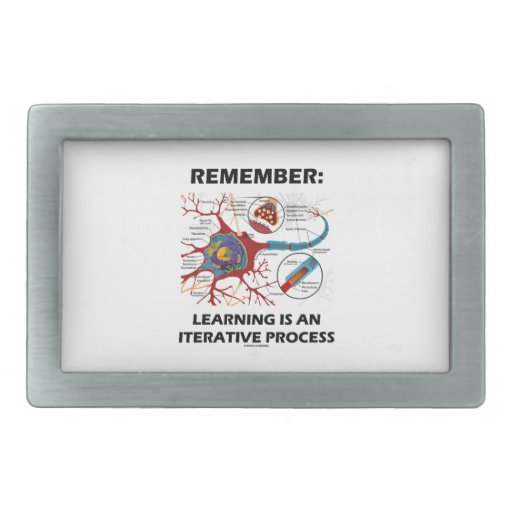 Remember: Learning Is An Iterative Process Synapse Belt Buckles