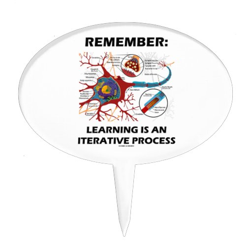 Remember: Learning Is An Iterative Process Synapse Cake Topper