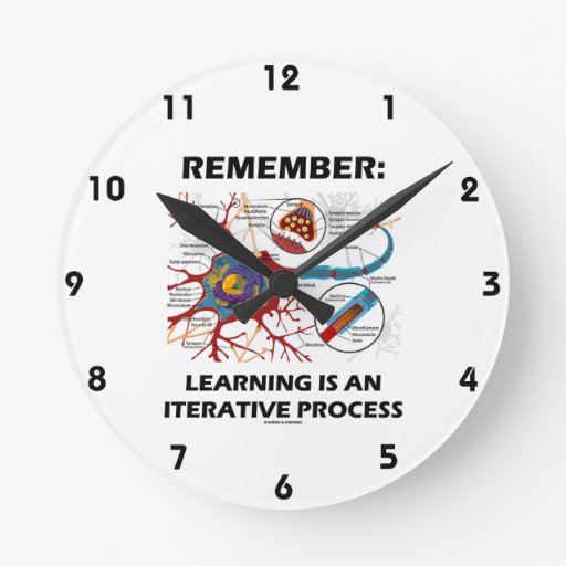 Remember: Learning Is An Iterative Process Synapse Round Wallclocks