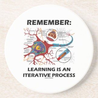 Remember: Learning Is An Iterative Process Synapse Drink Coaster