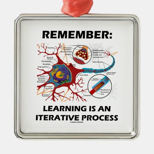 Remember: Learning Is An Iterative Process Synapse Christmas Tree Ornament