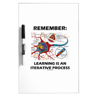 Remember: Learning Is An Iterative Process Synapse Dry Erase Whiteboards