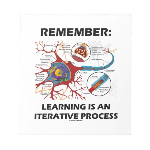 Remember: Learning Is An Iterative Process Synapse Memo Note Pad